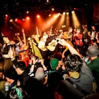 Musicians and fans enjoy an event called Wild Rover, a jamboree in Tokyo's Shibuya district that has been supported by the Irish Embassy for the past 15 years. | COURTESY OF HIDETO HIRATA