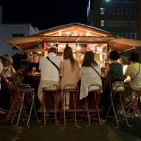 Late-night eats: A yatai food stall in Fukuoka, one of the host cities of the Rugby World Cup. | OSCAR BOYD