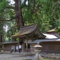 All natural materials: Wakasahime Shrine, which dates from 714, is made of wood, thatch and stone. | STEPHEN MANSFIELD