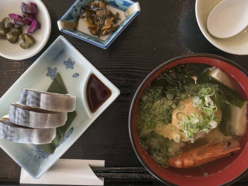 From boat to table: Fresh seafood served at bayside restaurant Oshokujidokoro Hamanoshiki.