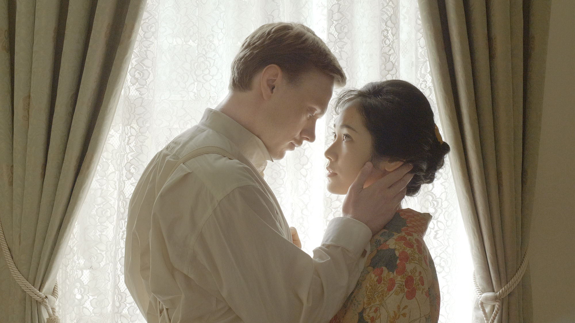 From a  Russian POW with love:  Junko Abe stars opposite Rodion Galyuchenko in 'The Prisoner of Sakura.'   © 2019 'THE PRISONER OF SAKURA' FILM PARTNERS