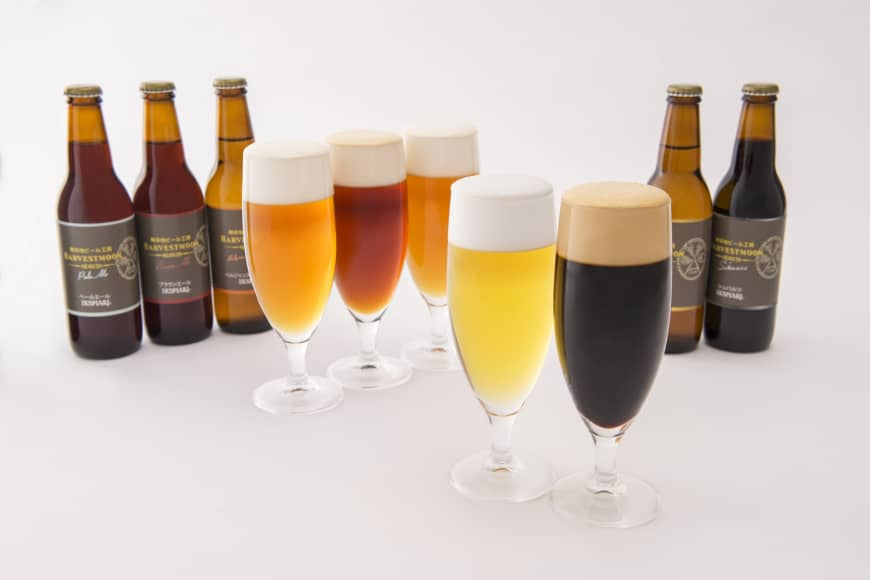 Craft beer for every palate: Harvestmoon has five beers in its standard lineup — a pilsner, schwarz, brown ale, pale ale and Belgian-style wheat.
