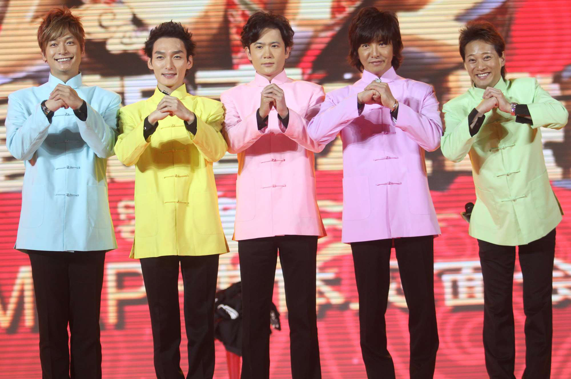 Living color: SMAP performs at the 2012 Shanghai Dragon TV Spring Festival gala in Shanghai. | AP
