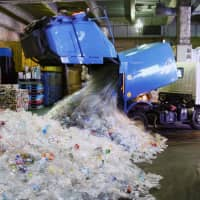 Plastic (not so) fantastic: Plastic waste, such as the kind produced from PET bottles, is often shipped abroad from Japan. | KYODO