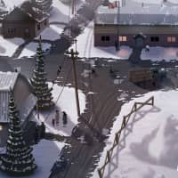 A concept art images for 'East of the Rockies,' an augmented reality storytelling app that follows the journey of Yuki, a 17-year-old girl who is sent to an internment camp in Canada during World War II. | COURTESY OF NFB AND JAM3