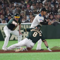 Athletics dominant in win over Fighters as MLB sides complete Sunday sweep