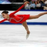 Kazakhstan's Elizabet Tursynbaeva wows the crowd during her performance in the free skate on Friday night. Tursynbaeva finished second with 224.76 points. | REUTERS
