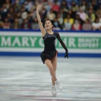Satoko Miyahara finished sixth at the world championships with a combined score of 215.95.   DAN ORLOWITZ