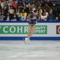 Rika Kihira finished second in the free skate with a score of 152.59, but narrowly missed out on a podium spot after ending the competition in fourth with a combined score of 223.49.   DAN ORLOWITZ