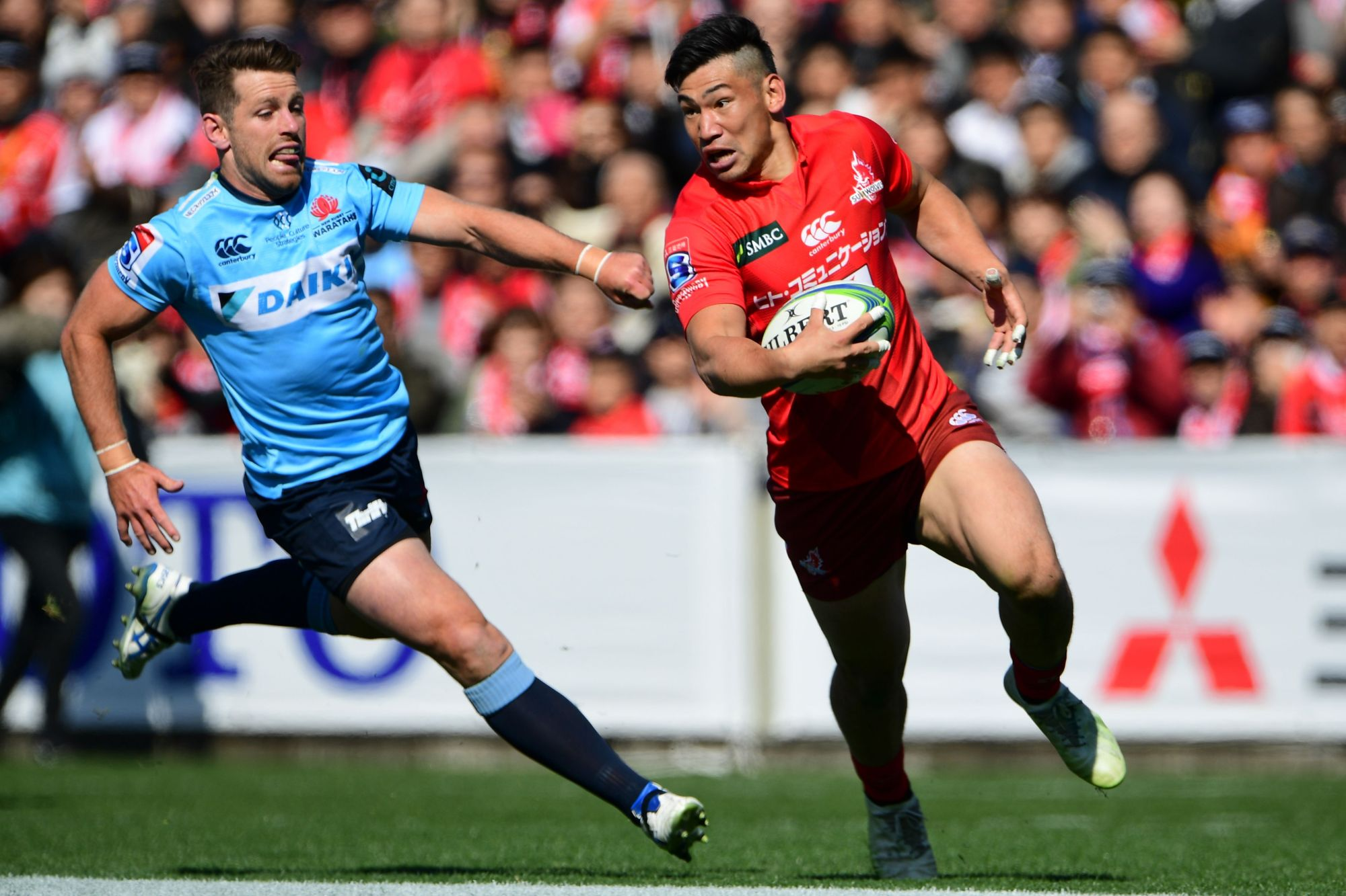 Ryoto Nakamura and the Sunwolves return to action on Saturday in Hamilton, New Zealand. | AFP-JIJI