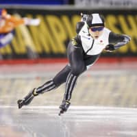 Miho Takagi races to top of leaderboard after first day first day of allround world championships