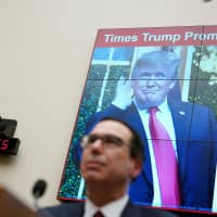 U.S. Treasury Secretary Steven Mnuchin testifies before a House Financial Services Committee hearing on the 'State of the International Financial System' on Capitol Hill in Washington Tuesday. | REUTERS