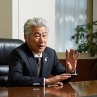 Nomura Holdings Inc. CEO Koji Nagai is interviewed recently in Tokyo. | BLOOMBERG