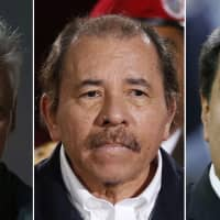 This image combo shows (from left) Cuban President Miguel Diaz-Canel, Nicaraguan President Daniel Ortega and Venezuelan President Nicolas Maduro. The Trump administration on Wednesday intensified its crackdown on Cuba, Nicaragua and Venezuela, rolling back Obama administration policy and announcing new restrictions and sanctions against the three countries. | AP
