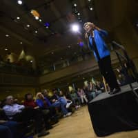Democratic presidential candidate Sen. Elizabeth Warren, D-Mass. visits Keene State College during a campaign visit on Saturda in Keene, New Hampshire. Warren told the audience that she has pressed Congress to take up articles of impeachment against President Donald Trump. | KRISTOPHER RADDER / THE BRATTLEBORO REFORMER / VIA AP