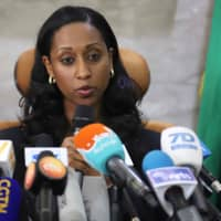 Ethiopian Transport Minister Dagmawit Moges addresses a press conference on April 4 in Addis Ababa on the preliminary report on the Ethiopian Airlines ET 302 plane crash. The crew of the plane that crashed last month killing 157 people, repeatedly followed procedures recommended by Boeing, but were unable to regain control of the jet, according the investigators' report. | AFP-JIJI