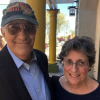 Lee Mueller, 70, and his wife Michele Mueller, 61, are pictured in Las Vegas on Thursday. | REUTERS