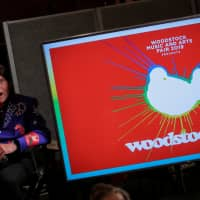 Singer John Fogerty speaks during the announcement event for the lineup for the Woodstock 50th Anniversary concert in New York March 19. | REUTERS