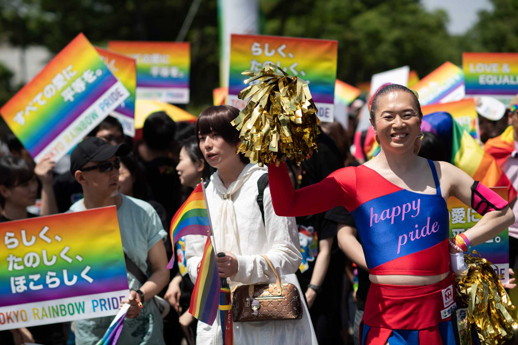 People attend the annual Tokyo Rainbow Parade on May 6, 2018, to show support for members of the LGBT community. | AFP-JIJI