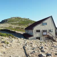 No creature comforts here: A mountain hut in the Central Alps. | TOM FAY