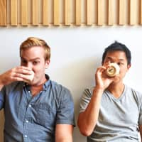 Making convenience classy: Nick Montgomery (left) and Akira Akuto are the duo behind Japanese sandwich specialist Konbi. | ALICIA CHO