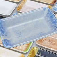 Although Eco Trays come in various colors, they are still recyclable. | FP CORP.