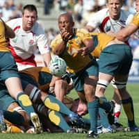 George Gregan is the Wallabies' most-capped player with 139 test appearances. Gregan competed in four Rugby World Cups and helped Australia capture the title in 1999.   AFP-JIJI