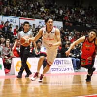 Ryusei Shinoyama and the Brave Thunders have hit their stride as the postseason approaches, winning nine of their last 10 games. | B. LEAGUE