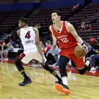 Yuta Watanabe helped the Memphis Hustle advance to the NBA G League playoffs in his rookie season in the pros. He averaged 14.2 points, 7.2 rebounds and 2.6 assists in the G League. | NBA PHOTOS