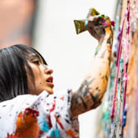 Artist Miwa Komatsu wows Cleveland audience with live painting performance at Shinto exhibition