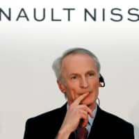 Renault Chairman Jean-Dominique Senard attends a Renault, Nissan and Mitsubishi joint news conference in Yokohama in March. | REUTERS