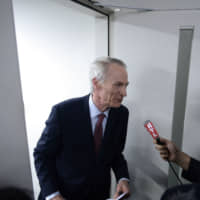 Jean-Dominique Senard, chairman of Renault SA, is interviewed in Yokohama on March 12. | BLOOMBERG