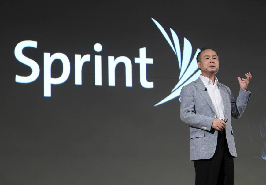 With a $19 billion stake in Sprint Corp., SoftBank Group Corp., led by Masayoshi Son, will bear the brunt of the fallout if Sprint's takeover by T-Mobile US Inc. is blocked. | BLOOMBERG