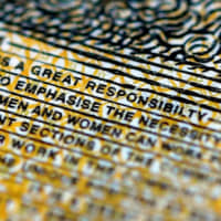 The word 'responsibility' is spelled incorrectly on a 50 Australian dollar note currently in circulation. | REUTERS