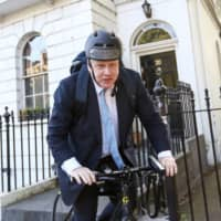 Boris Johnson, the former mayor of London, leaves his home in the capital in June 2016. | BLOOMBERG
