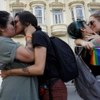 Defiant Cuban LGBT activists hold unprecedented parade