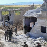 Syria regime steps up airstrikes in northwest and seizes small town