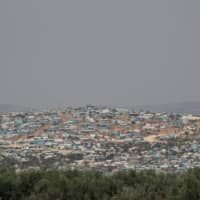 The Atmeh camp for the displaced, in Atmeh town, Idlib province, Syria, is seen Wednesday.   REUTERS