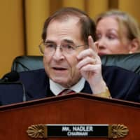 Chairman of the House Judiciary Committee Jerrold Nadler (D-NY) speaks during a hearing on Capitol Hill in Washington March 26. | REUTERS