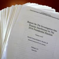 The Mueller Report on the Investigation into Russian Interference in the 2016 Presidential Election is pictured in New York April 18. | REUTERS