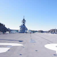 The 19,500-ton Izumo, seen in Yokosuka, Kanagawa Prefecture, in March, cost around ¥120 billion to build and along with its sister ship, the Kaga, is the Self-Defense Forces' largest ship.
