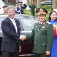 Japan and Vietnam defense ministers agree to peacefully tackle Beijing's South China Sea expansion