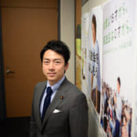 Shinjiro Koizumi, a member of the House of Representatives, poses in Tokyo on Wednesday. Koizumi, the 38-year-old son of popular former leader Junichiro Koizumi, says the country's not ready for the scale of change he thinks it needs.   BLOOMBERG