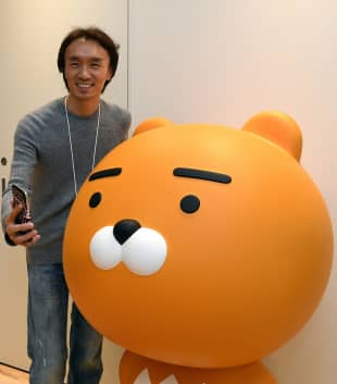 Jay Kim, head of Kakao Japan Corp., a subsidiary of South Korea