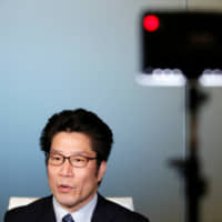 Takuya Yokota, a younger brother of abductee Megumi Yokota, speaks during an interview in Tokyo on Tuesday. | REUTERS