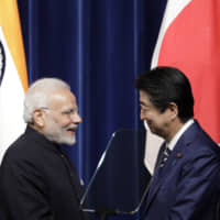 Indian Prime Minister Narendra Modi has built a personal rapport with Prime Minister Shinzo Abe. | BLOOMBERG
