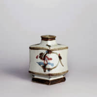 Kanjiro Kawai's 'White Flat Jar of Grass and Flower Design' (1939) | COLLECTION OF THE NATIONAL MUSEUM OF MODERN ART, KYOTO