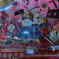 Making art out of the ordinary: Imagination Pika Space's ceiling is hung with a collection of curios, household items and junk. | ROSS RANDLES