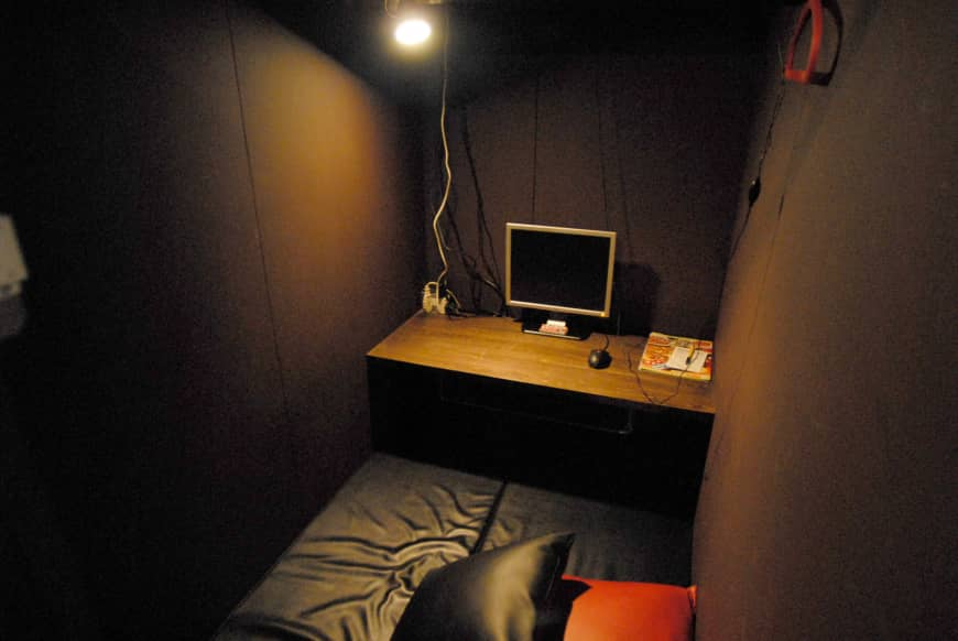 Spend the night together: In the early 2000s, some internet cafes had rooms that patrons were able to sleep in.