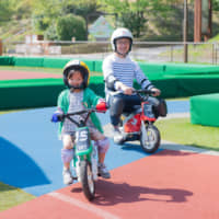 Bike challenges: Kids age 3 and up can learn to ride mini motorcycles at various courses in Mobi Park. | COURTESY OF TWIN RING MOTEGI